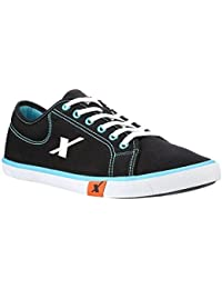 Sparx Men's Black And Sky Blue Casual Shoes (SM-283)
