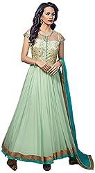Vraj Raj Tex Women's Georgette Unstitched Dress Material (Green)