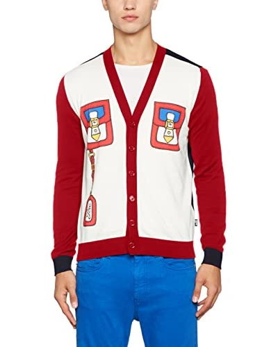 Love Moschino Cardigan [Blu/Rosso/Off White]