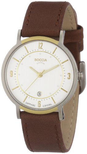 Boccia Ladies Titanium Leather Strap Watch B3154-03