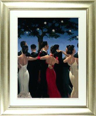 'Waltzers' by Jack Vettriano - High Quality Framed Print (frame size 56 cm W x 64 cm H)