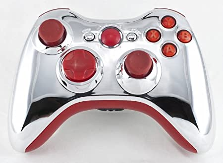 Drop shot, Auto-aim, Jitter Xbox 360 Modded Controller COD MW3, Black Ops 2, MW2, Rapid fire mod (Chrome/Red)