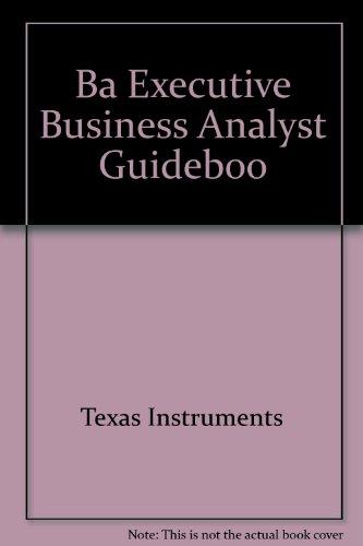 BA-II Executive Calculator Guidebook