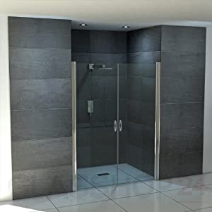Hochwertige Design Duschabtrennung / Nischendusche mit Lotuseffekt | 70 x 195 cm   Kundenbewertung und weitere Informationen