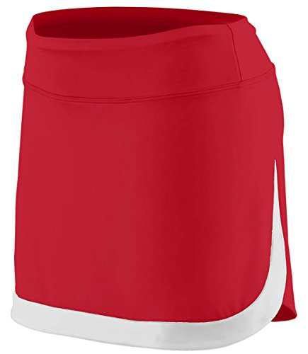 Augusta Sportswear Women'S Color Block Skort, Red/Whi, Large front-734105