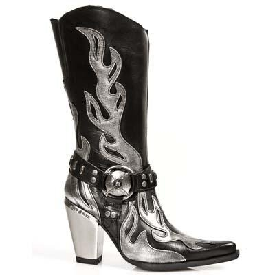 New Rock Bull Boots Women - Metallic - Euro 42 / UK 7.5