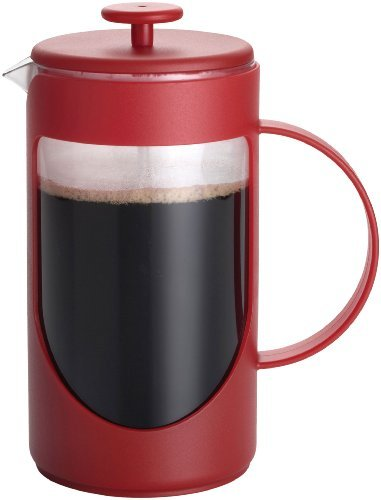 BonJour Coffee Unbreakable Plastic French Press, 33.8-Ounce, Ami-Matin(tm), Red by BonJour