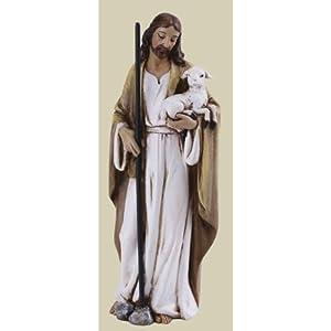 "Pack of 4 Joseph's Studio Renaissance Religious Good Shepherd Jesus Figurines 4"""