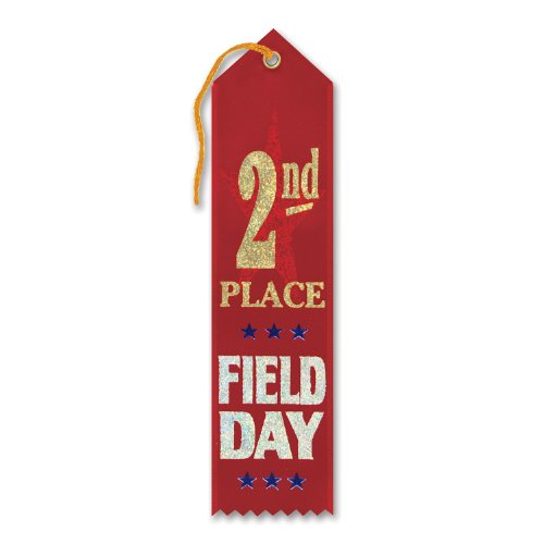 "2nd Place Field Day Award Ribbon 2"" x 8"" Party Accessory"