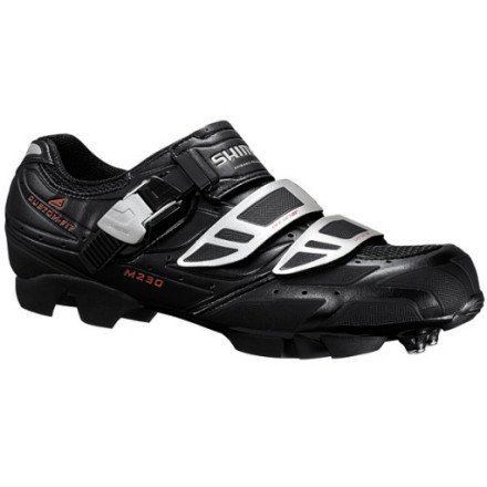 Shimano SH-M230 Custom Fit Mountain Bike Shoe - Men's Black, 39.0