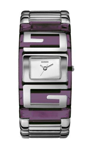 Guess G Plaque W12055L3 - Reloj de mujer de cuarzo con correa plateada