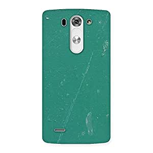 Delighted Green Paint Crack Print Back Case Cover for LG G3 Mini