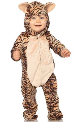 Leg Avenue Costume Unisex-baby Tiger Hooded Bodysuit with Non Skid Sole