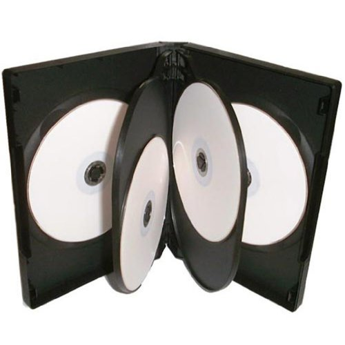 Four Square Media 1 x CD DVD/BLU RAY 22 mm Nero DVD 6 way per 6 Disc - confezione da 1