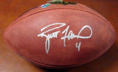 sale retailer 9fddb bc934 Brett Favre Autographed NFL Football Holo Check Price ...