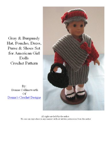 Dress, Poncho, Hat,, & Shoes Doll Crochet Pattern