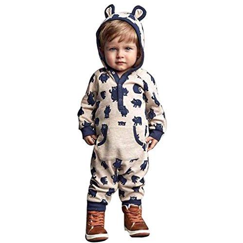 Culater® bambino cappuccio cartoon ragazza neonato IE pagliaccetto caldi vestiti outwear (80)