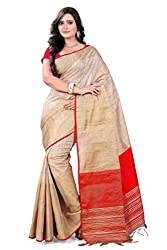 Amigos Fashion Women's Linen Silk Saree (AF-12)