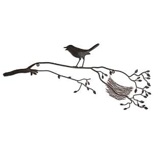 Nesting Bird on a Branch Metal Wall Art Home & Garden Feature by Gardens2you