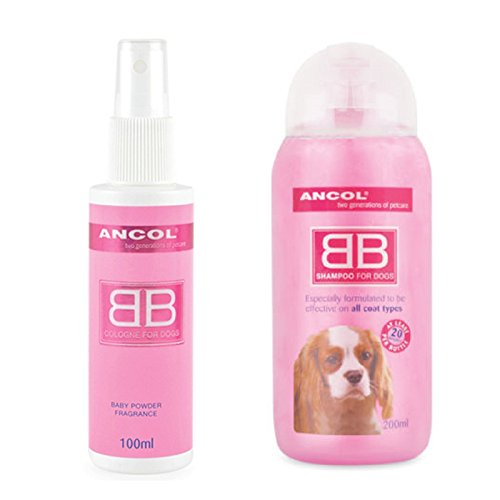 ancol-baby-powder-fragrance-dog-cologne-perfume-scent-shampoo-talc-powder-set-by-ancol