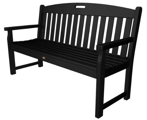 Trex Outdoor Furniture TXB60CB 60-Inch Yacht Club Bench, Charcoal Black