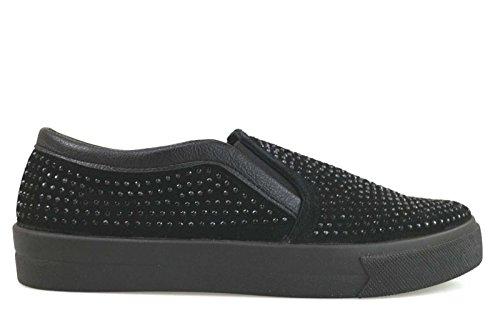 scarpe donna MADAME PIGALLE sneakers nero camoscio strass AM785 (39 EU)
