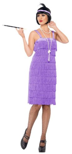Smiffy'S Jazz Flapper Costume, Lilac, Xx-Large