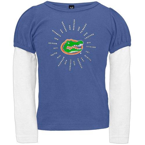 Florida Gators - Rhinestone Ray Logo Girls Juvy 2Fer - Juvy 8