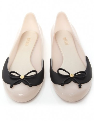 Melissa Shoes Divine 2, Ballerine donna Bianco Nude, Beige (Nude & Black), 35