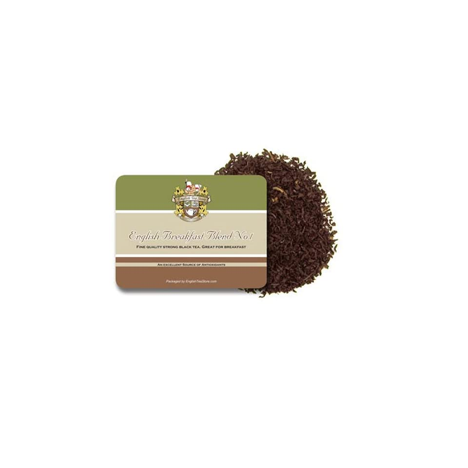 English Tea Store Bulk Loose Leaf Tea, English Breakfast Blend Number One Tea, 4 Ounce