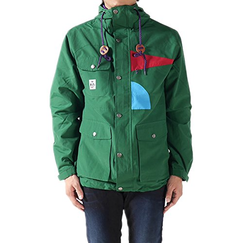 CHUMS チャムス マウンテンパーカー Boody Face Mountain Parka CH04-0650 ナイロン ジャケット ブルゾン ジップアップ フルジップ パーカー メンズ 正規取扱品 (L, 3.Forest(7505))