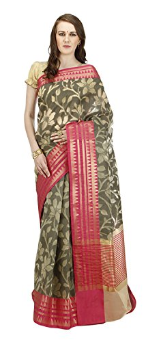 Banarasi-Silk-Works-Womens-Cotton-Banarasi-Saree-Multi-Coloured