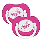 MLB Los Angeles Dodgers Pacifiers (Pack of 2), Pink
