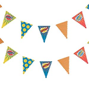 Ginger Ray Bunting - Pop Art Superhero Party Banner Decoration from Ginger Ray
