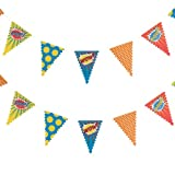 Ginger Ray Bunting - Pop Art Superhero Party Banner Decoration