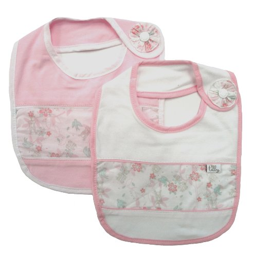 Max and Tilly Baby Girls 2 Piece Bib Set