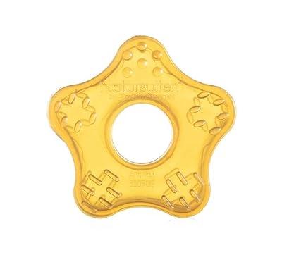Natursutten Natural Rubber Teether Toy Star, Amber by Natursutten
