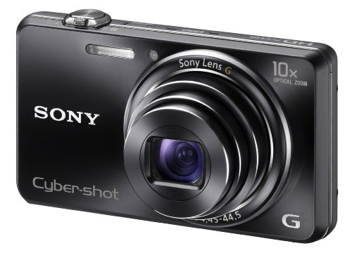 Sony Cyber-shot WX100 High Zoom CMOS Sensor Camera - Black (18.2MP, 10x Optical Zoom) 2.7 inch LCD