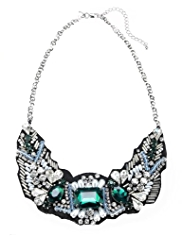 M&S Collection Diamanté & Jewel Bib Collar Necklace