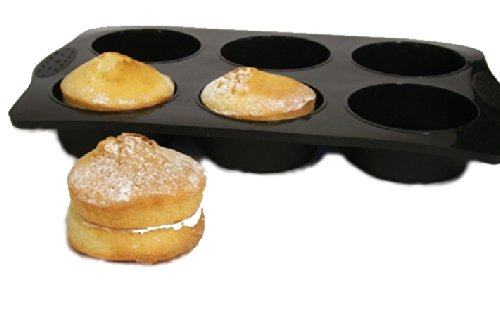 wellbake-jumbo-extra-large-muffin-pie-tray-6-cup-superior-quality-non-stick-silicone-bakeware-10-yea