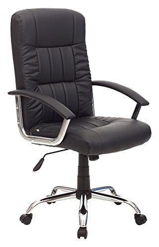 My_office LEADER Poltrona, Poliuretano, Nero, 63x63x116 cm