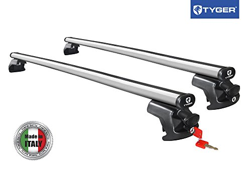 TYGER 50 inch Roof Cross Bars Tool-Free Lockable fit Side Rails up to 46.8