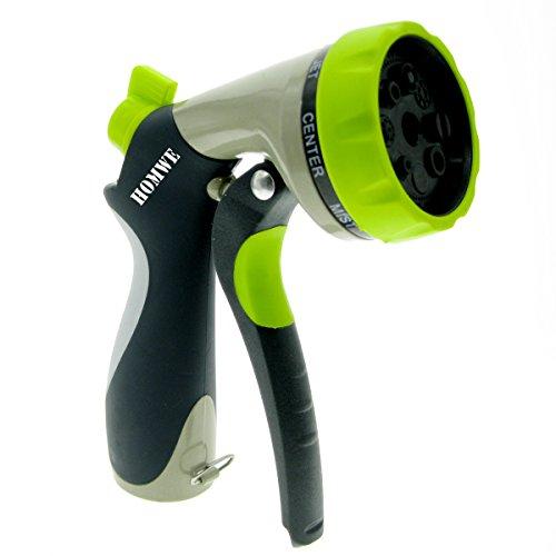 Homwe Garden Hose Nozzle 8 Pattern Metal Watering Nozzle Hand Sprayer Best Garden Report