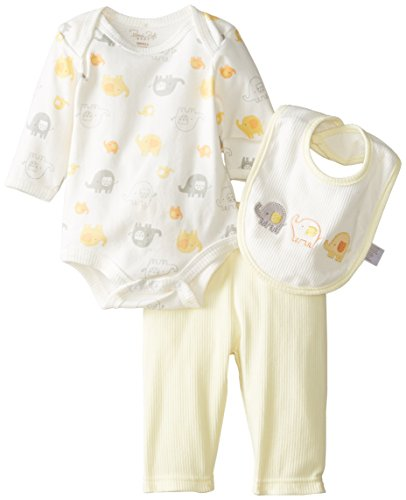 Rene Rofe Baby Unisex Newborn 3 Piece Elephant Pant Set With Bodysuit, Multi, 0-3 Months back-12715