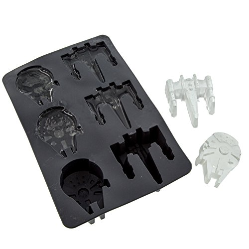 Star Wars Silicone Ice Cube Trays - Millenium Falcon and X-Wing - Food Grade Silicone for Baking and Chocolate