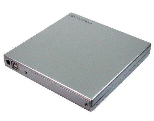 External USB 2.0 Case / Caddy for slim IDE CD / DVD / Blu-Ray slim drives silver