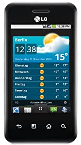 LG E720 Optimus Chic Smartphone (Android OS, 5 MP Kamera, 8.1 cm (3,2 Zoll) Touchscreen, 3.5mm Klinkenanschluss) black