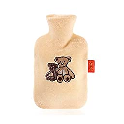 Warm Tradition Children\'s Night Sky Fleece Covered Hot Water Bottle - Bottle made in Germany, Cover made in USA