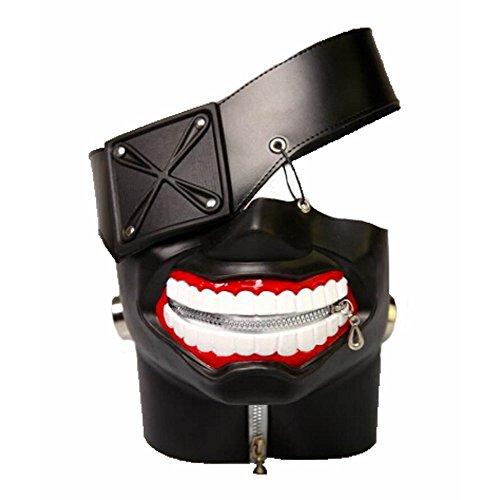 Premia Tokyo Ghoul Kaneki Ken Mask Halloween Cosplay 3D PU Leather Mask