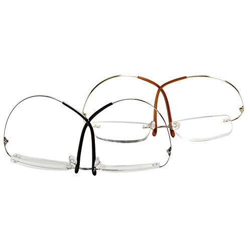 Lightweight Titanium Eyeglass Frames : LianSan Titanium Lightweight Reading Glasses Men Womens ...
